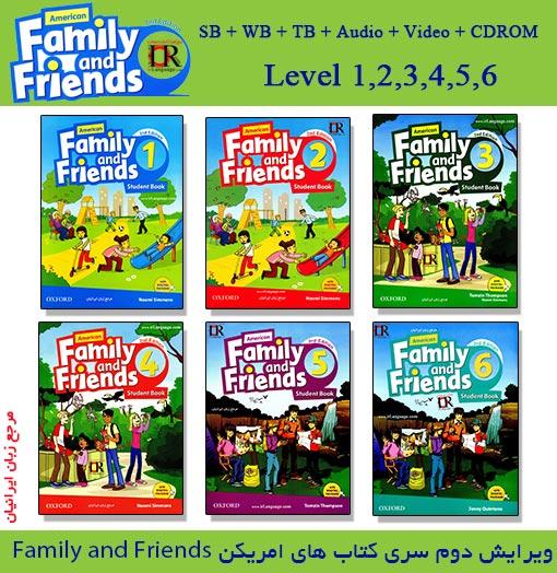 ویرایش دوم کتاب های Family and Friends American