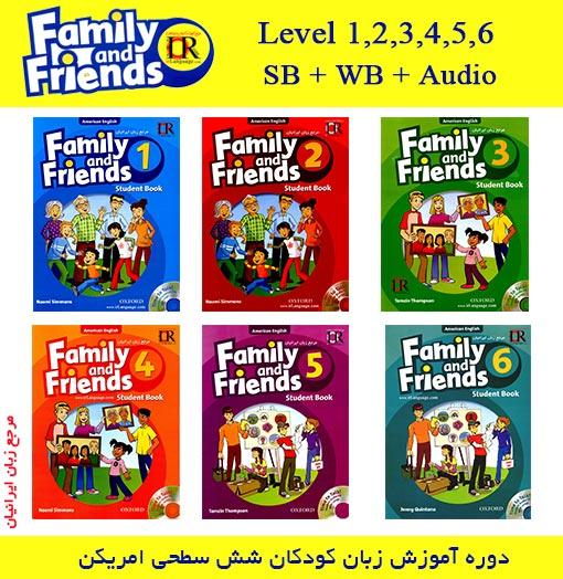 کتاب های Family and Friends American